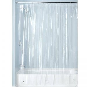 InterDesign 3.0 Liner doublure pour rideau de douche - grand rideau douche PEVA résistant à moisissure 180-0 cm x 200-0 cm avec 12 œillets - transparent de la marque InterDesign image 0 produit