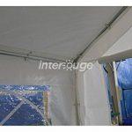 INTEROUGE Tente de Jardin / réception 3 x 9 m - 27m² Tubes Acier 38 mm, Bâche en Polyéthylène Tissé 180 g/m² - Tonnelle Pavillon Barnum Chapiteau de la marque Interouge image 1 produit