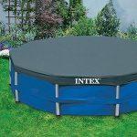 Intex Bâche de protection pour Tubulaire ronde Bleu 305 x 305 x 25 cm 28030 de la marque Intex image 2 produit
