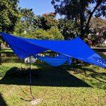 LAMURO Bâche Anti-Pluie Imperméable | Couverture de hamac ou double toit de tente en nylon ripstop | Abri de survie tous temps pour l'extérieur | Équipement de camping et randonnée de la marque LAMURO image 3 produit
