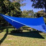 LAMURO Bâche Anti-Pluie Imperméable | Couverture de hamac ou double toit de tente en nylon ripstop | Abri de survie tous temps pour l'extérieur | Équipement de camping et randonnée de la marque LAMURO image 4 produit