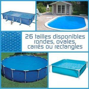 Linxor France ® Bâche à bulles ronde, ovale ou rectangle 180 microns pour piscine intex ou autre... / 26 tailles disponibles / Norme CE de la marque Linxor image 0 produit
