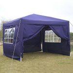 Lonlier Tonnelle tente de jardin pliable 3 x 3m chapiteau ou tonnelle Tente de camping aluminium avec 4 parois pavillon de la marque Lonlier image 3 produit