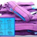 Lot de 2 sangles d'arrimage professionnelles d' de type EN 1492–2pour charge d'1t maximum - 1m, violet de la marque MGS SHOP® image 1 produit