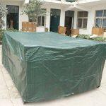 MOVEONSTEP Couverture de meubles de jardin en plein air Rectangulaire imperméable Patio couvre avec œillets d'angle et corde de sécurité incluse 3m x2m x1.1m (9.8ft x 6.6ft x3.6ft) -Vert foncé de la marque MOVEONSTEP image 1 produit