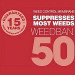 Nutley's Lot de weedban 50 gms 1 m x 10 m Tissu anti mauvaises herbes Noir de la marque Nutley's image 2 produit