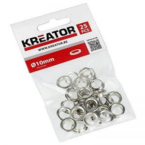 Œillets en aluminium 10mm 25pièces krt616108 de la marque KREATOR image 0 produit