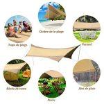 Outsunny Bâche anti-pluie voile d'ombrage toile de camping 5,6L x 5,5l m polyester haute densité 190T imperméable marron doré 84 de la marque Outsunny image 2 produit