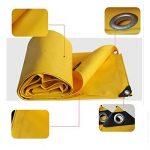 Pengbu MEIDUO Bâches Bâche imperméable à l'eau lourde - Bâche jaune - Bâche de qualité supérieure 0.05mm - 500g/m² 22 tailles pour l'extérieur de la marque Pengbu image 2 produit