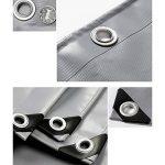 Pengbu MEIDUO Bâches Bâche polyvalente polyvalente bâche tente abri imperméable résistant aux intempéries Forte renforcé gris Poly Tarp -0.45mm-550g/m² pour l'extérieur de la marque Pengbu image 4 produit