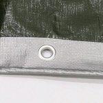 PENGFEI Bâche Protection Double Imperméable L'eau Épaissir Protection Solaire Pluie Toile De Hangar Voiture Couvercle Anti-corrosion, Gris + Vert, Épaisseur 0.35 MM, 160 G / M², 9 Options De Taille ( Couleur : GRAY+GREEN , taille : 6x5M ) de la marque PEN image 4 produit