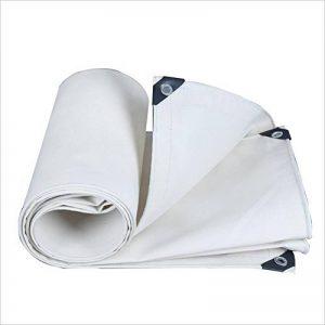 PENGFEI Blanc Toile Bâche De Protection Imperméable Tissu De Pluie Pique-nique Résiste À L'humidité Cargaison Les Plantes Solaire Isolation Thermique, Épaisseur 0.8mm, 500 G / M², 10 Options De Taille ( taille : 4 x 5M ) de la marque PENGFEI-pengbu image 0 produit