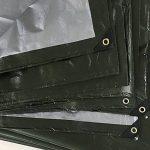 PENGFEI Imperméable Bâche De Protection Tissu De Pluie Multifonction Camion Entrepôt Cargaison Étanche À La Poussière Ombre Résistant À L'usure Vert + Argent Polyéthylène, Épaisseur 0.35mm, -180 G / M², 13 Options De Taille ( taille : 3 x 5m ) de la marqu image 4 produit