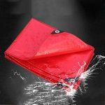 PENGFEI Épaissir Bâche De Protection Imperméable PVC Été Solaire Hiver Résistance Au Froid Voiture Couverture Étanche À La Poussière Anti-oxydation, Épaisseur 0.45mm, -500 G / M², 8 Options De Taille ( Couleur : Rouge , taille : 2x4m ) de la marque PENGFE image 1 produit