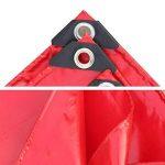 PENGFEI Épaissir Bâche De Protection Imperméable PVC Été Solaire Hiver Résistance Au Froid Voiture Couverture Étanche À La Poussière Anti-oxydation, Épaisseur 0.45mm, -500 G / M², 8 Options De Taille ( Couleur : Rouge , taille : 2x4m ) de la marque PENGFE image 4 produit