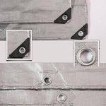 QIANGDA Argent Bâche Plastique PE Carport Parasol Résistant À La Chaleur Anti-corrosion Imperméable Protège Le Bois Preuve De Rétrécissement -220g / M², Épaisseur 0.4mm, Taille Personnalisable ( taille : 3 x 5m ) de la marque QIANGDA-pengbu image 4 produit