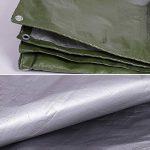 QIANGDA Bâche De Protection Couverture polyéthylène Couverture de camion imperméable parasol pliage facile -180g / m², Épaisseur 0.35mm, argent + vert armée, 11 tailles facultatives, Taille Personnalisé ( taille : 2 x 2m ) de la marque QIANGDA-pengbu image 2 produit