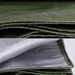 QIANGDA Bâche De Protection Couverture polyéthylène Couverture de camion imperméable parasol pliage facile -180g / m², Épaisseur 0.35mm, argent + vert armée, 11 tailles facultatives, Taille Personnalisé ( taille : 2 x 2m ) de la marque QIANGDA-pengbu image 3 produit