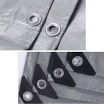 QIANGDA Bâche De Protection Imperméable Étanche À La Poussière Solaire Un Camion Pluie Tissu Anti-corrosion Anti-oxydation, Épaisseur 0.32mm, 180 G / M², 5 Options De Taille resiste vent ( Couleur : Gris , taille : 2x3M ) de la marque QIANGDA-pengbu image 3 produit