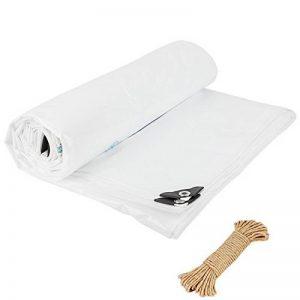 QIANGDA Blanc Bâche Résistant À La Chaleur Imperméable Toile D'auvent Coupe-vent Protéger Le Bois Anti-froid Résistant À La Corrosion -160g / M², Épaisseur 0.3mm, Taille Personnalisable ( taille : 2 x 3m ) de la marque QIANGDA-pengbu image 0 produit