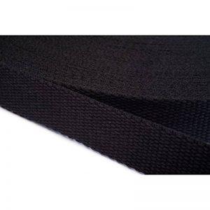 Sangle de coton, 40 mm large, 12 Mètres de long, Couleur: Noir de la marque Sangle de coton image 0 produit