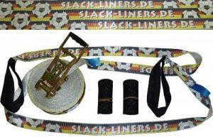 Slack-liners Sangle de slackline à cliquet Couleur championnat du monde et d'Europe Allemagne Largeur 50 mm Longueur 20 m 4 pièces de la marque slack-liners image 0 produit