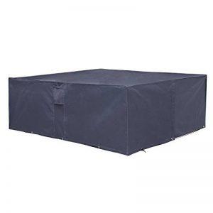 SONGMICS Housse de protection Bâche Couverture pour meubles de jardin Pour table de jardin avec chaises Étanche Antisolaire Anti vent Anti-UV, 240 x 140 x 90 cm GFC93G de la marque SONGMICS image 0 produit