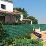 Songmics Rouleau de Brise-vue Paravent Couverture de clôture vert en PVC pour Jardin GPJ040L de la marque SONGMICS image 1 produit