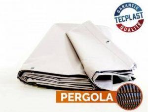 Toile pour pergola PVC 680 g/m² - 2 x 3 m - Bache PVC Blanche - Etancheite toit terrasse - bache imperméable - pergola opaque de la marque Bâches Direct image 0 produit