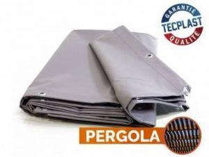 Toile pour pergola PVC 680 g/m² - 3 x 5 m - Bache PVC Grise - Etancheite toit terrasse - bache imperméable - pergola opaque de la marque Bâches Direct image 0 produit