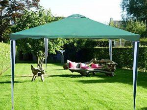 Tonnelle Pavilion Tente de réception | 300 x 300 cm / 3 x 3m | carré | Vert | Sorara | 10 kg (UV 50 +) | cas pour camping Jardin Abri Tonnelle de la marque SORARA image 0 produit