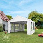 TOOLPORT Tente de réception 4x6 m pavillon blanc bâche PE épaisse de 180 g/m² imperméable tente de jardin de la marque TOOLPORT image 1 produit