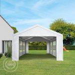 TOOLPORT Tente de réception 4x6 m pavillon blanc bâche PE épaisse de 180 g/m² imperméable tente de jardin de la marque TOOLPORT image 2 produit