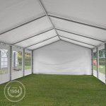 TOOLPORT Tente de réception 4x6 m pavillon blanc bâche PE épaisse de 180 g/m² imperméable tente de jardin de la marque TOOLPORT image 3 produit