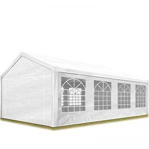 TOOLPORT Tente de réception 4x8 m pavillon blanc bâche PE épaisse de 180 g/m² imperméable tente de jardin de la marque TOOLPORT image 0 produit