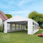 TOOLPORT Tente de réception 4x8 m pavillon blanc bâche PE épaisse de 180 g/m² imperméable tente de jardin de la marque TOOLPORT image 1 produit