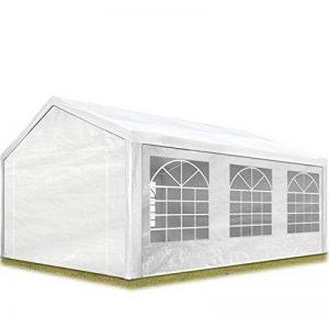 TOOLPORT Tente de réception 4x6 m pavillon blanc bâche PE épaisse de 180 g/m² imperméable tente de jardin de la marque TOOLPORT image 0 produit