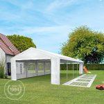 TOOLPORT Tente de réception 4x6 m pavillon blanc bâche PE épaisse de 180 g/m² imperméable tente de jardin de la marque TOOLPORT image 4 produit