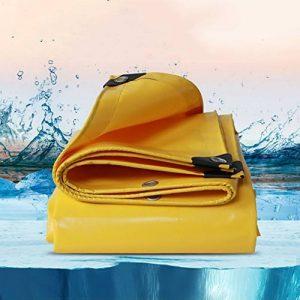 WUFENG Bâche Double Face Fil À Haute Résistance Toile Épaissir Imperméable Protection Solaire Bâche De PVC De Plein Air Épaisseur 0.5mm 500g/M2 (Couleur : Le jaune, taille : 3x3m) de la marque WUFENG-zhangpeng image 0 produit
