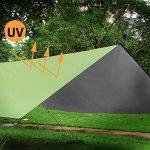 YUEDGE Bâche Tarp Toile de Tente Tapis de Sol Pare-Soleil Portable Légère Pliable Imperméable pour Camping Randonnée Pique-nique de la marque YUEDGE image 2 produit