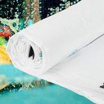 ZEMIN Bâche Protection Couverture Transparente Imperméable Crème Solaire Drap Tente Toit Coupe-vent Chaud Pur Couverture Polyester, Blanc, 160G/M², 19 Tailles Disponibles ( Couleur : Blanc , taille : 4X5M ) de la marque ZEMIN-pengbu image 1 produit